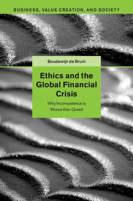Abbildung von de Bruin | Ethics and the Global Financial Crisis | 2015