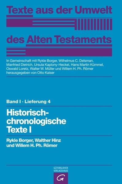 Abbildung von Borger / Hinz / Römer   Rechts- und Wirtschaftsurkunden. Historisch-chronologische Texte I   1984