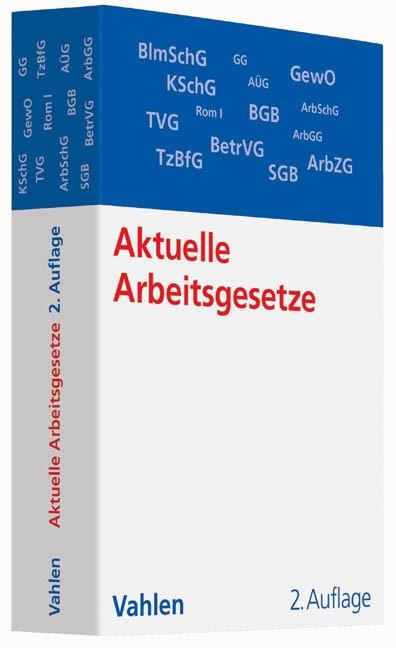 Aktuelle Arbeitsgesetze   2. Auflage, 2014   Buch (Cover)
