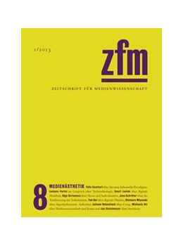 Abbildung von Medienwissenschaft | Zeitschrift für Medienwissenschaft 8 | 2013 | Medienästhetik