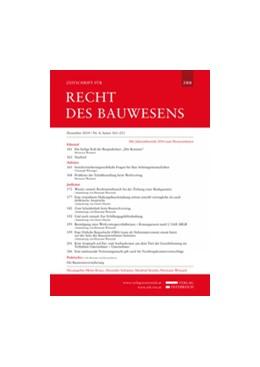 Abbildung von Zeitschrift für Recht des Bauwesens | 9. Jahrgang | 2020