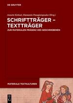 Abbildung von Kehnel / Panagiotopoulos | Schriftträger - Textträger | 2014