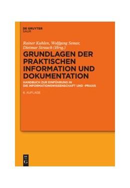 Abbildung von Kuhlen / Semar | Grundlagen der praktischen Information und Dokumentation | 1. Auflage | 2014 | beck-shop.de