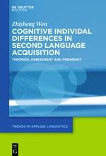Abbildung von Wen   Cognitive Individual Differences in Second Language Acquisition   2020