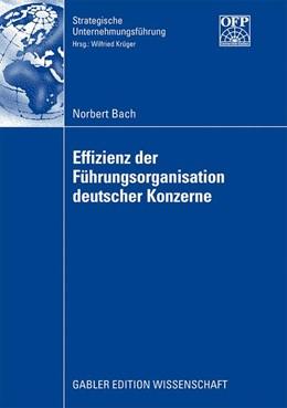 Abbildung von Bach | Effizienz der Führungsorganisation deutscher Konzerne | 2008
