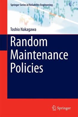 Abbildung von Nakagawa | Random Maintenance Policies | 2014