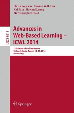 Abbildung von Popescu / Lau   Advances in Web-Based Learning -- ICWL 2014   1. Auflage   2014   beck-shop.de
