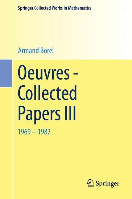 Oeuvres - Collected Papers III | Borel, 2014 | Buch (Cover)
