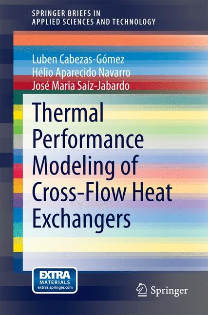 Abbildung von Cabezas-Gómez / Navarro / Saíz-Jabardo | Thermal Performance Modeling of Cross-Flow Heat Exchangers | 2014