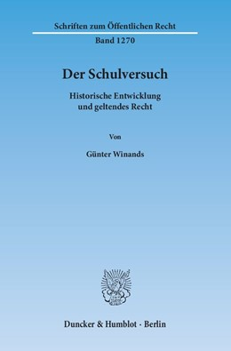 Abbildung von Winands | Der Schulversuch | 2014 | Historische Entwicklung und ge... | 1270