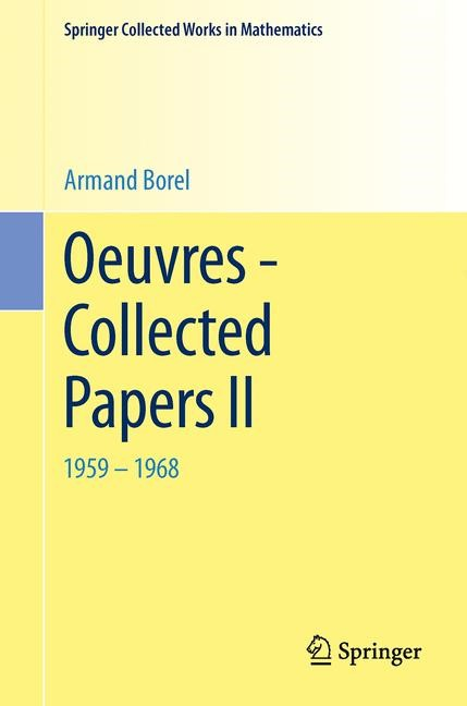 Oeuvres - Collected Papers II | Borel, 2014 | Buch (Cover)