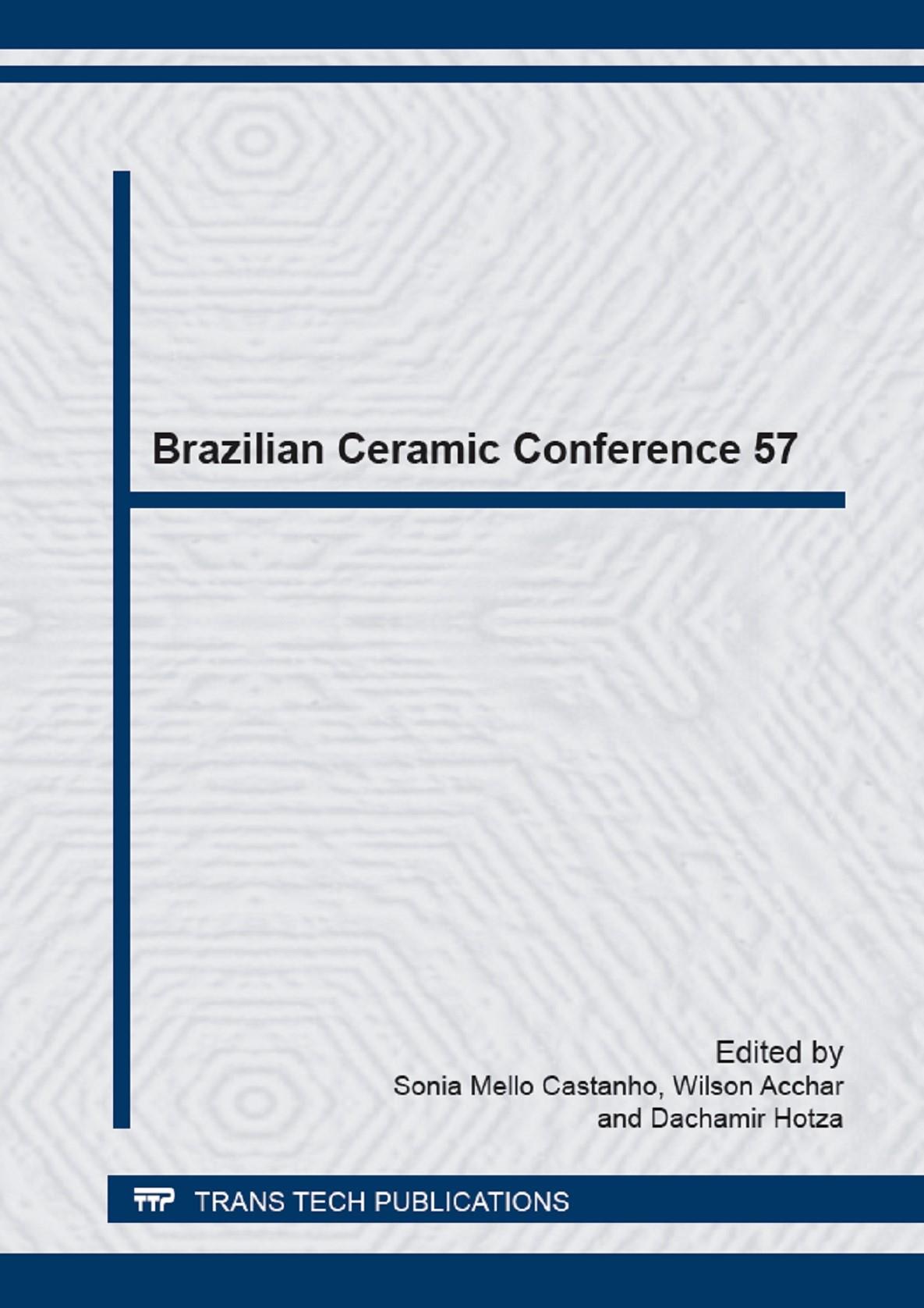 Abbildung von Mello Castanho / Acchar / Hotza   Brazilian Ceramic Conference 57   2014