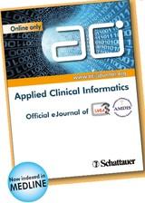 Abbildung von ACI - Applied Clinical Informatics | Volume 10 | 2019