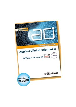 Abbildung von ACI - Applied Clinical Informatics | Volume 10 | 2019 | Official eJournal of IMIA (Fou...