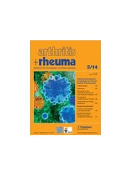 Abbildung von Arthritis und Rheuma | 39. Jahrgang | 2019 | Zeitschrift für Orthopädie und...
