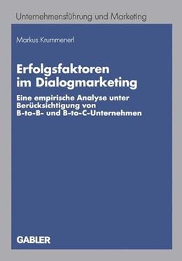 Abbildung von Krummenerl | Erfolgsfaktoren im Dialogmarketing | 2005 | 2012 | Eine empirische Analyse unter ...