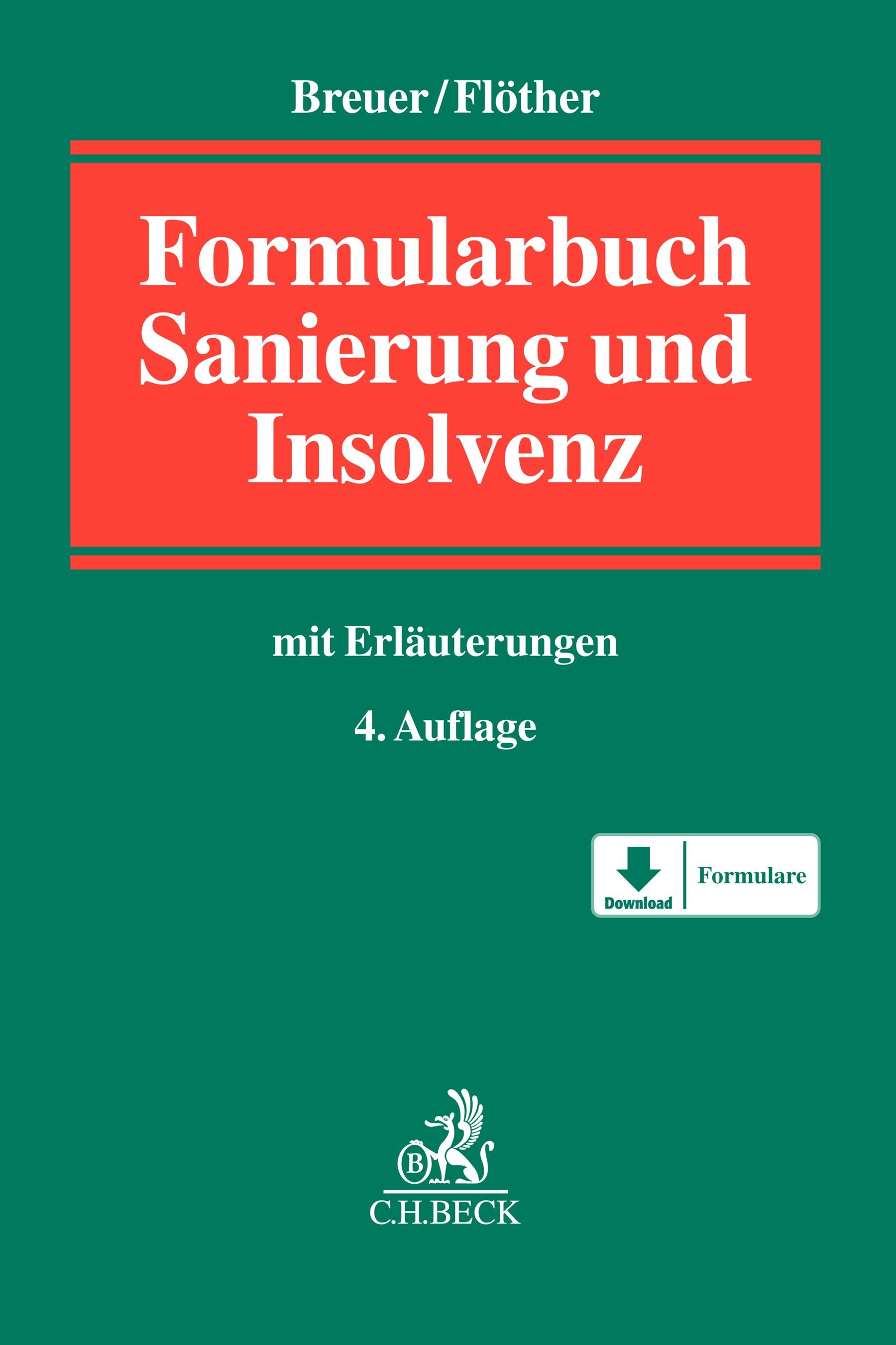 Insolvenzrechts-Formularbuch | Breuer | 4. Auflage, 2018 | Buch (Cover)