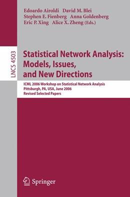 Abbildung von Airoldi / Blei / Fienberg / Goldenberg / Xing / Zheng   Statistical Network Analysis: Models, Issues, and New Directions   2007   ICML 2006 Workshop on Statisti...   4503