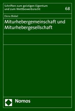 Abbildung von Blobel | Miturhebergemeinschaft und Miturhebergesellschaft | 2014 | 68