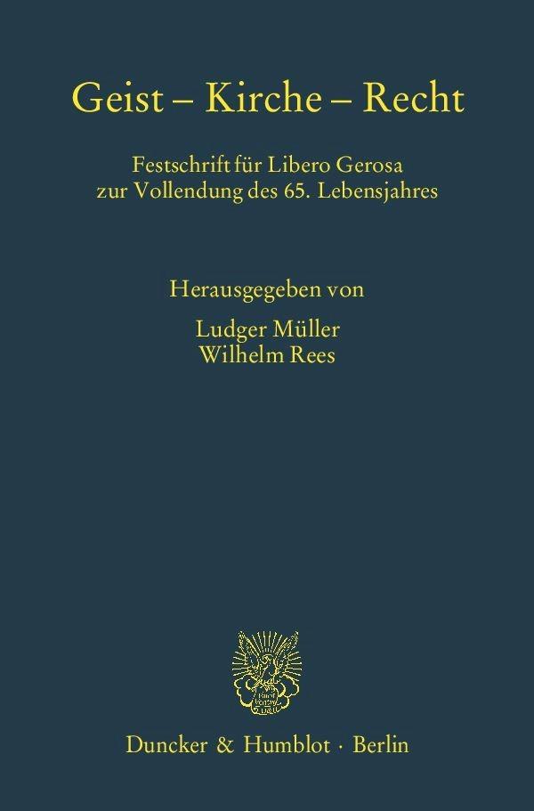 Geist – Kirche – Recht   Müller / Rees, 2014   Buch (Cover)