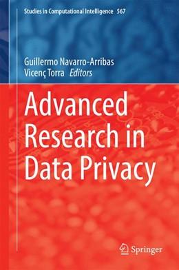 Abbildung von Navarro-Arribas / Torra | Advanced Research in Data Privacy | 2014 | 567