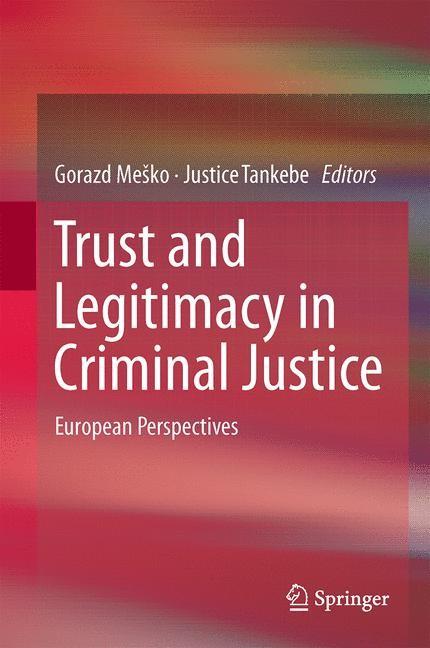 Abbildung von Meško / Tankebe | Trust and Legitimacy in Criminal Justice | 2014