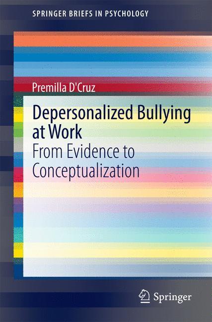 Abbildung von D'Cruz | Depersonalized Bullying at Work | 2014