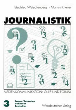 Abbildung von Kriener | Journalistik | 1998 | 1998 | Theorie und Praxis aktueller M...