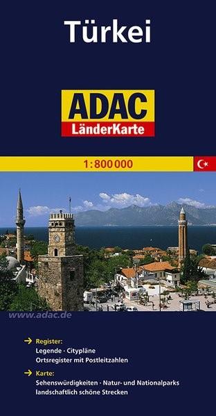 Abbildung von ADAC LänderKarte Türkei 1 : 800 000 | 6. Auflage | 2014