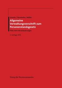 Allgemeine Verwaltungsvorschrift zum Personenstandsgesetz   Bornhofen / Müller / Schmitz   2. Auflage, 2014   Buch (Cover)