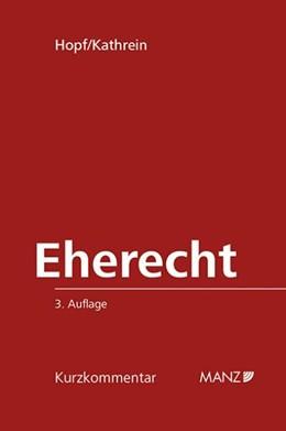 Abbildung von Hopf / Kathrein   Eherecht   3. Auflage 2014   2014   12
