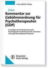 Kommentar zur Gebührenordnung für Psychotherapeuten (GOP) | Best | 3., überarbeitete Auflage, 2015 | Buch (Cover)