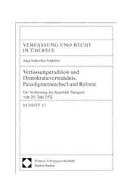 Abbildung von Schoeller-Schletter | Verfassungstradition und Demokratieverständnis, Paradigmenwechsel und Reform | 2001 | Die Verfassung der Republik Pa... | 17