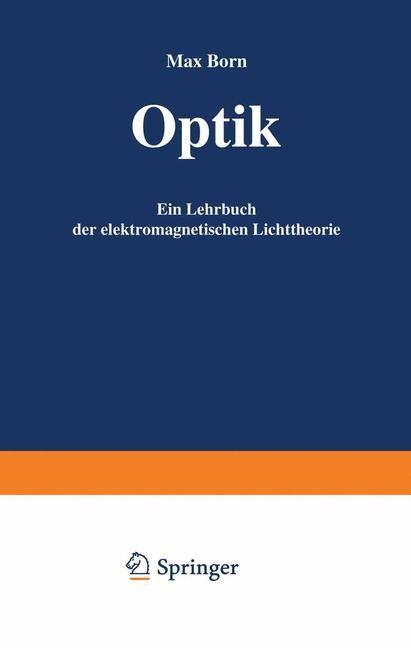 Optik | Born, 1985 | Buch (Cover)