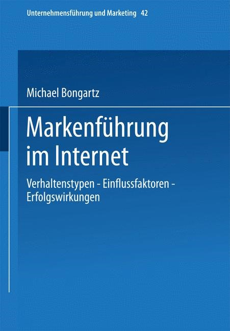 Markenführung im Internet | Bongartz | 2002, 2002 | Buch (Cover)