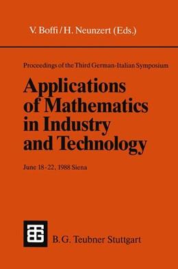 Abbildung von Boffi / Neunzert | Proceedings of the Third German-Italian Symposium Applications of Mathematics in Industry and Technology | 1989 | June 18–22, 1988 Siena (Under ...