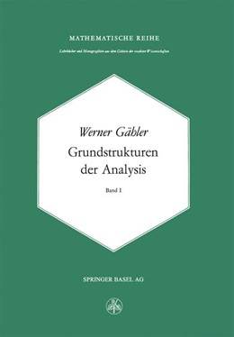 Abbildung von Gähler | Grundstrukturen der Analysis I | 1977
