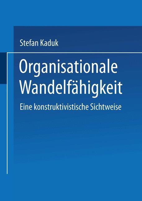 Organisationale Wandelfähigkeit | Kaduk, 2002 | Buch (Cover)