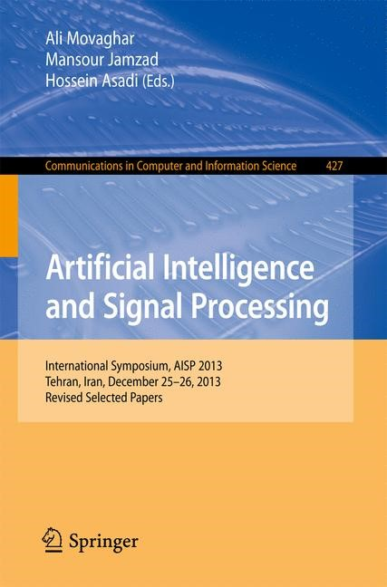 Artificial Intelligence and Signal Processing | Movaghar / Jamzad / Asadi, 2014 | Buch (Cover)