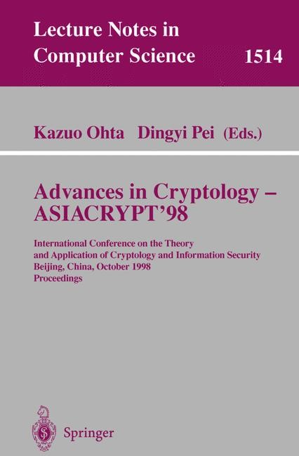 Advances in Cryptology — ASIACRYPT'98 | Ohta / Pei, 1998 | Buch (Cover)