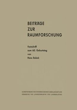 Abbildung von Beiträge zur Raumforschung | 1964 | Festschrift zum 60. Geburtstag... | 2