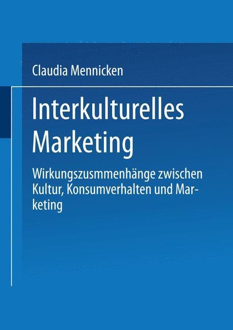 Abbildung von Mennicken | Interkulturelles Marketing | 2000