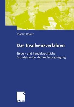 Abbildung von Dobler   Das Insolvenzverfahren   2002   2002   Steuer -und handelsrechtliche ...