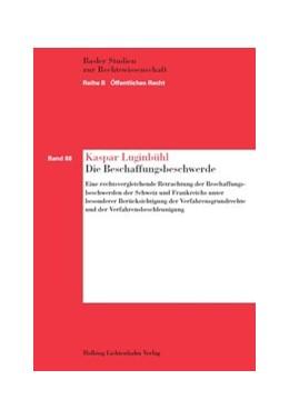 Abbildung von Luginbühl   Die Beschaffungsbeschwerde   1. Auflage   2014   Band 88   beck-shop.de