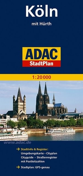 ADAC StadtPlan Köln mit Hürth 1 : 20 000 | 12. Auflage, 2014 (Cover)