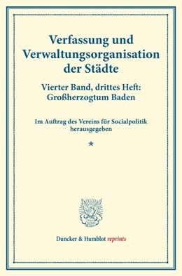 Abbildung von Verfassung und Verwaltungsorganisation der Städte. | 1. Auflage | 2014 | beck-shop.de