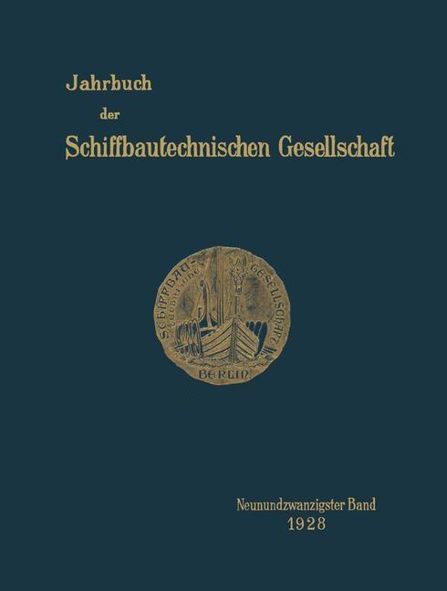 Jahrbuch der Schiffbautechnischen Gesellschaft, 1928 | Buch (Cover)