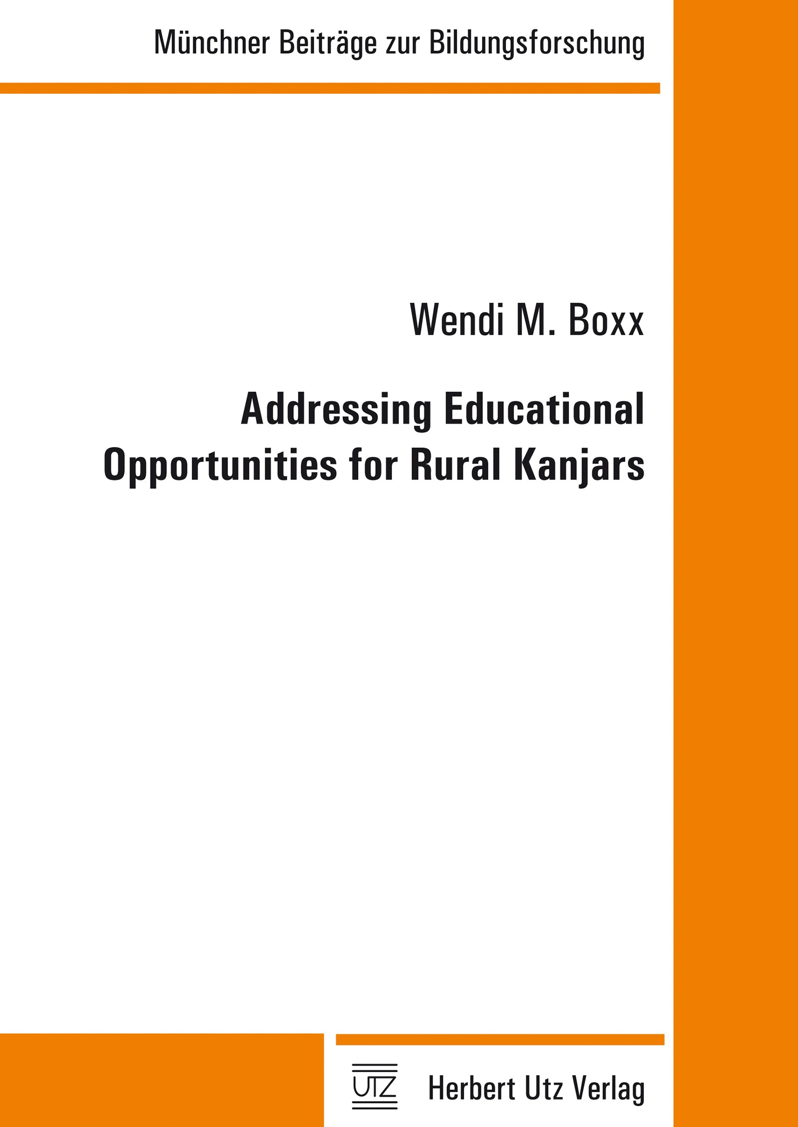 Addressing Educational Opportunities for Rural Kanjars | Boxx, 2014 | Buch (Cover)