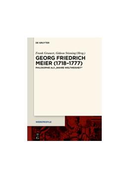 Abbildung von Grunert / Stiening | Georg Friedrich Meier (1718–1777) | 1. Auflage | 2015 | beck-shop.de