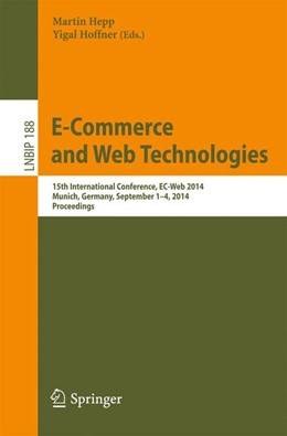 Abbildung von Hepp / Hoffner | E-Commerce and Web Technologies | 2014 | 15th International Conference,... | 188